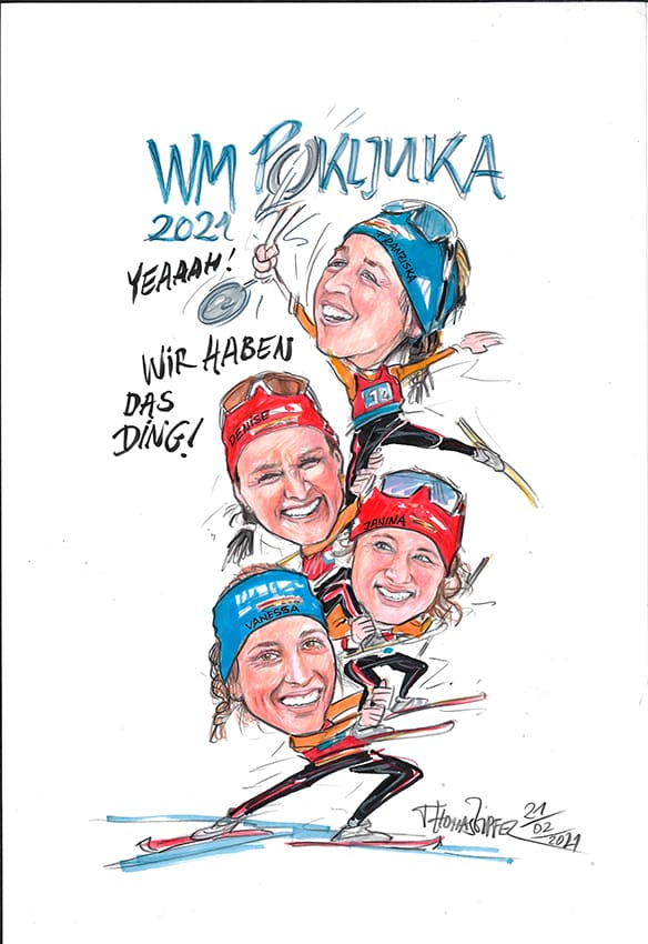 Biathlon Vizeweltmeisterinnen 2021