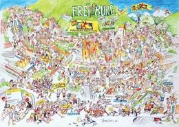 Freiburg Marathon Poster