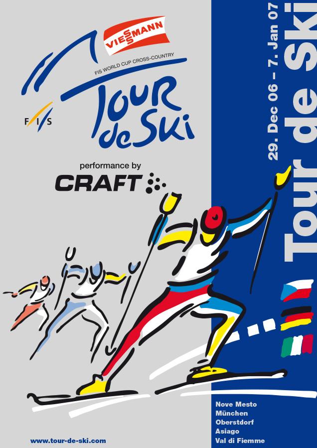 Plakat Tour der Ski