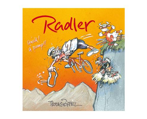 Cartoonbuch Radler