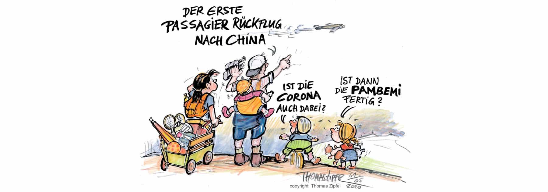 Corona Rückflug China